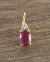 Ruby and Diamond Light Weight Pendant in Yellow Gold