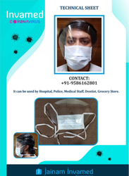 Face Shield - Technical Sheet - 3 Ply Surgical Mask With Shield (Protective Shield)