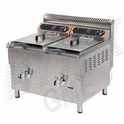 Standing Type Gas Fryer Double Basket