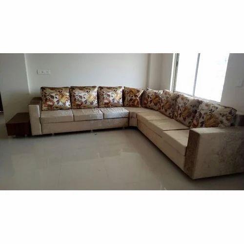 Brown Wood L Shape Designer Sofa Set Rs 60000 Set Calcutta Sofa