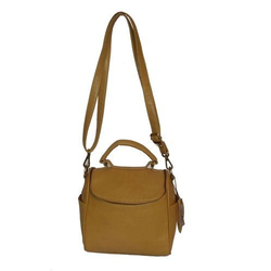 Spice Art Beige Womens Tan Leather Satchel Bag