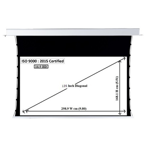 Tab Tensioned Projector Screen 135 Inch Tab Tension