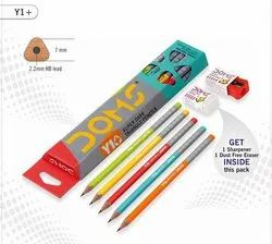 Doms Y1 Plus Pencil with Free Shrpner and Eraser