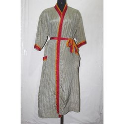 Vintage Silk Sari Kimono Maxi Sari Gown Dress