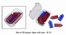 Set Of 20 Paper Clips With Box