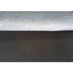 Black Plain Accord Synthetic Leather Fabric