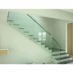 Aluminium Glass Railing, For Home