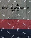 Cotton Satin Print(Lizol)