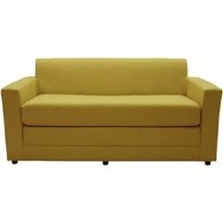 Yellow Contemporary Two Seater Sofa, Seating Capacity: 2, 5 Inch