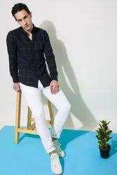 Check Oxford Full Sleeve Men Casual Cotton Shirt