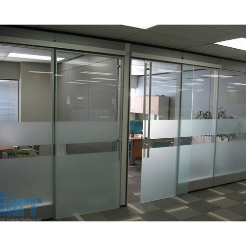 Transparent Tempered Glass Door Partition Rs 450 Square