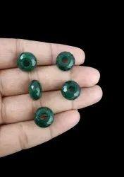 Dark Green Aventurine Gemstone Rondelle 14x8mm Big Hole Beads With 5mm Hole - Big Hole Beads