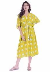Cotton Printed Caftan Short Kaftan