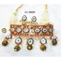 Hand Painted Kundan Choker Necklace