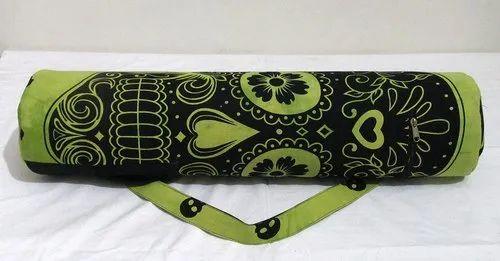 sleek promo codes great quality 100%cotton Green Skull Yoga Mat