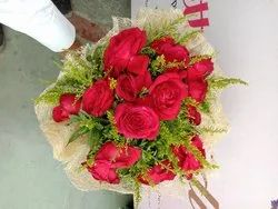 Real Flowers Bouquet Packing red Rose bouquet