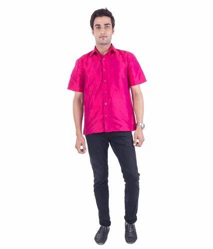 ef5b6615f823c Scot Wilson Men s Hot Pink Silk Shirt at Rs 3999  piece ...
