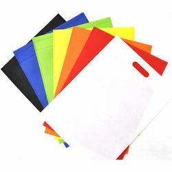 White Colored Plain Non Woven D Cut Carry Bags
