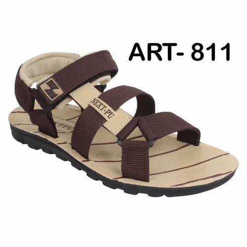 Sporter Men Brown Canvas Sandal 811