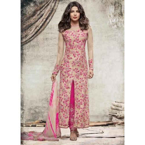 9451a5040 Small   Large Party Wear Designer Front Cut Kurti
