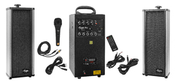80 Watts Portable System With USB, Bluetooth, Recording & 2 External Speaker
