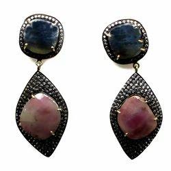 Genuine Sapphire Earring