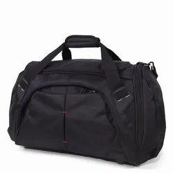 Black Plain Polyester Travel Bag