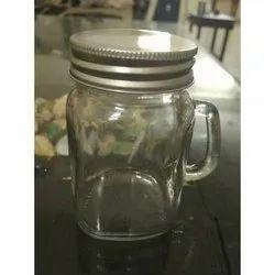 Handle Glass Jar