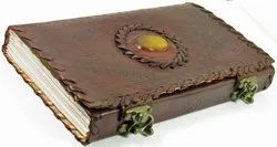Stone Embossed Leather Journal With Dual Latch