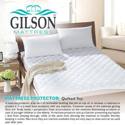 Gilson Regular White Polyester Form Mattress Protector (Quilted Top)