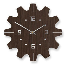 Brown Wooden Wall Clock