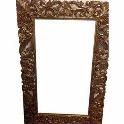Wooden Antique Rectangular Carving Photo Frame
