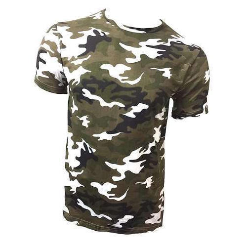 Cotton Mens Half Sleeves Military T Shirt 99da64b6485c