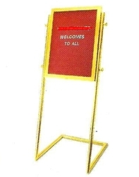 Aggarwal Distributors Velvet Cloth Surface Hotel Welcome Board & Display Stands, Board Size: Various