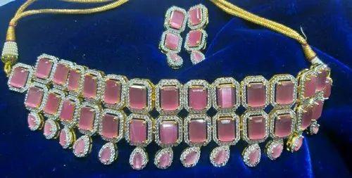 Colour Stone CZ Necklace Set