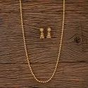 Brass Golden Antique Gold Plated Long Necklace 202729, Size: Length = 32 Inch