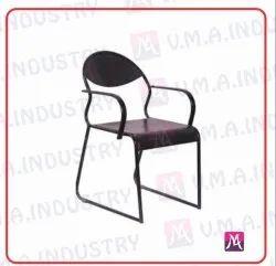 VMA Black Office Steel Chair