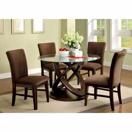 4 Seater Contemporary Dining Room Table, Modern Contemporary Dining Room Table Set