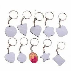 Double Side MDF Sublimation Printed Keychain