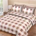 Check Print Bedsheet for Double Bed