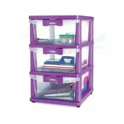 Nilkamal Plastic Cabinet Portable for Home, Size: 355x430x620mm