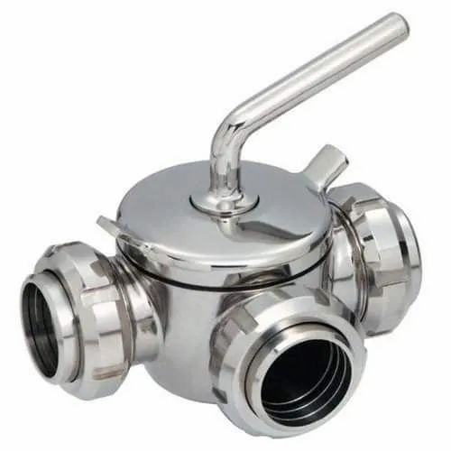 "1.5/"" 3-Way Stainless Steel Plug Valve"