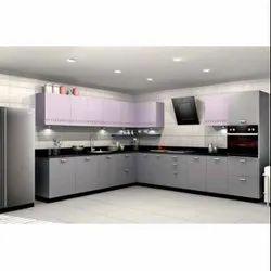 MDF L Shaped Modular Kitchen