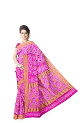 All Over Pink Color  Banarasi Georgette Saree