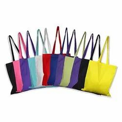 Cotton Tote Bags With Color Handles
