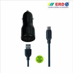 CC 21 Micro USB Black Car Charger