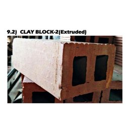 Red Concrete Extruded Clay Block, for Side Walls, Size: 9 x 4 x 3 inch