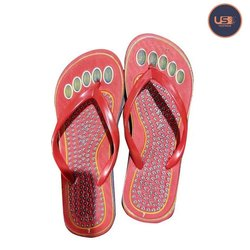 Rubber And Pu Ladies Casual Wear Flat Slipper, Size: 4-10