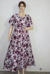 American Crepe Elegant Maxi Dress