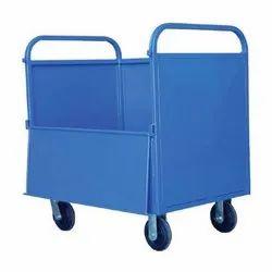 Blue Wheeled Garbage Bin